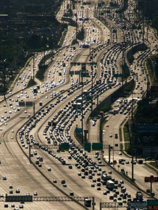 Use traffic jams to share hiring messages