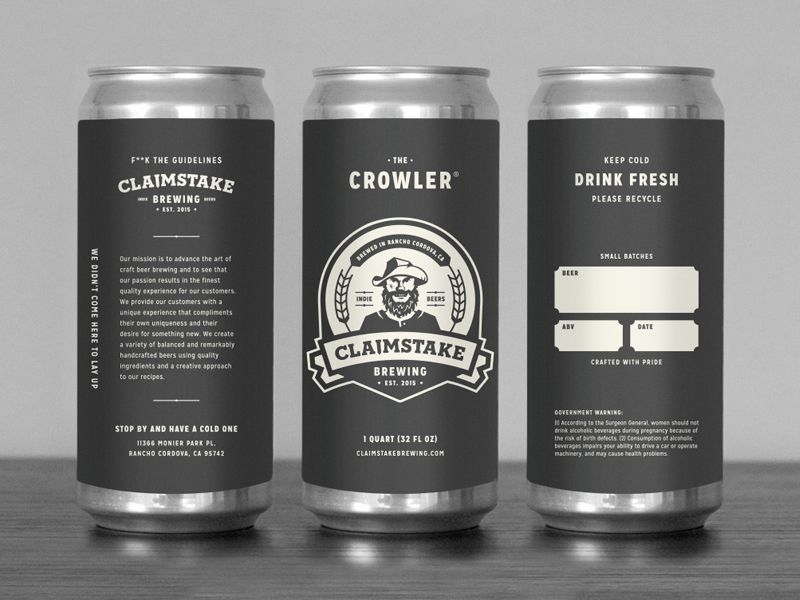Custom Printed Labels for Beer Cans