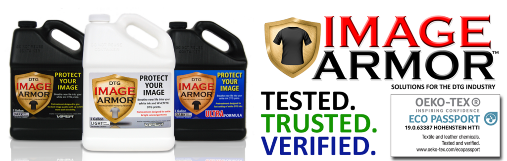Image Armor Pretreatment Product Header Tested Trusted Verified