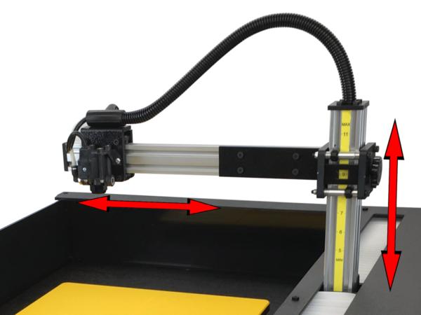 Viper XPT-1000 DTG Pretreatment Machine Adjustability