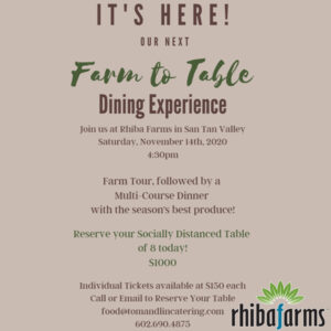 Farm To Table Dining Experience