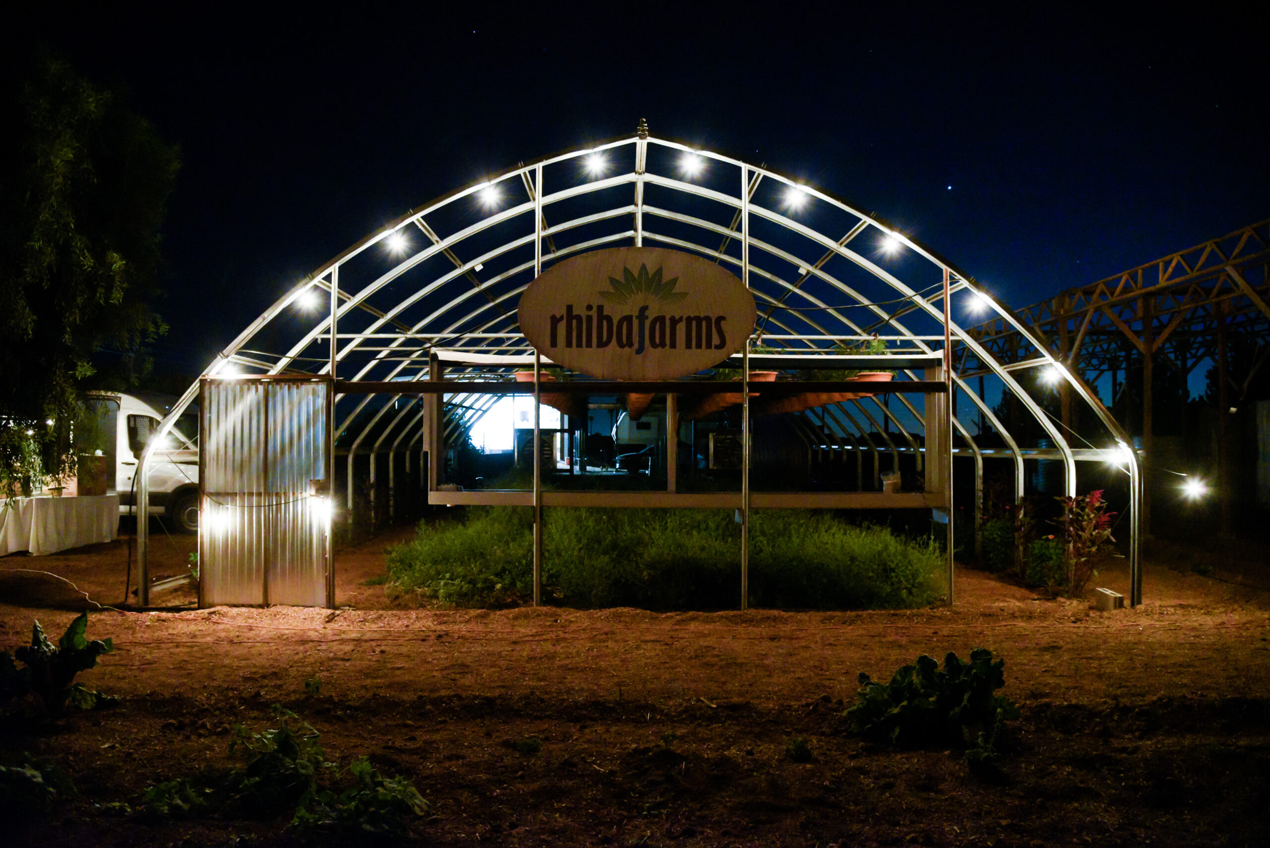 Rhiba Farms at night time