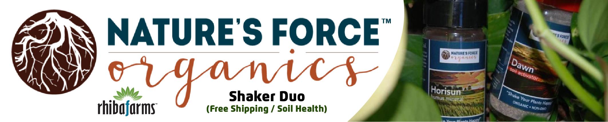 Natures Force Organics Shaker Duo