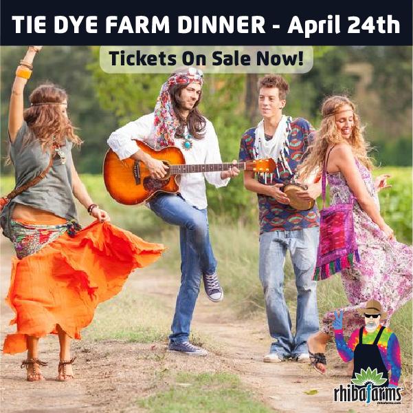 Tie Dye Farm Dinner party