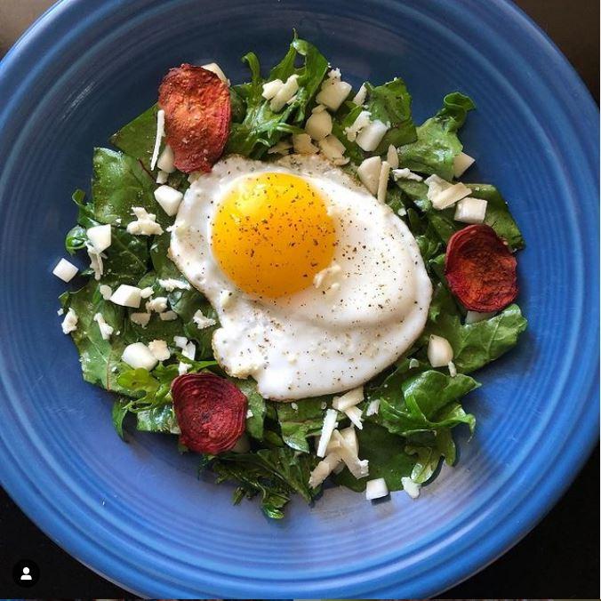 arugula kale beet green salad