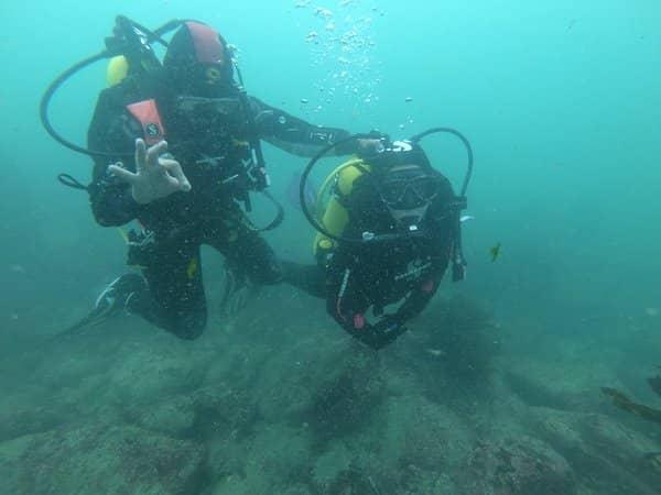 bautizo submarino en algarrobo cono sur diving