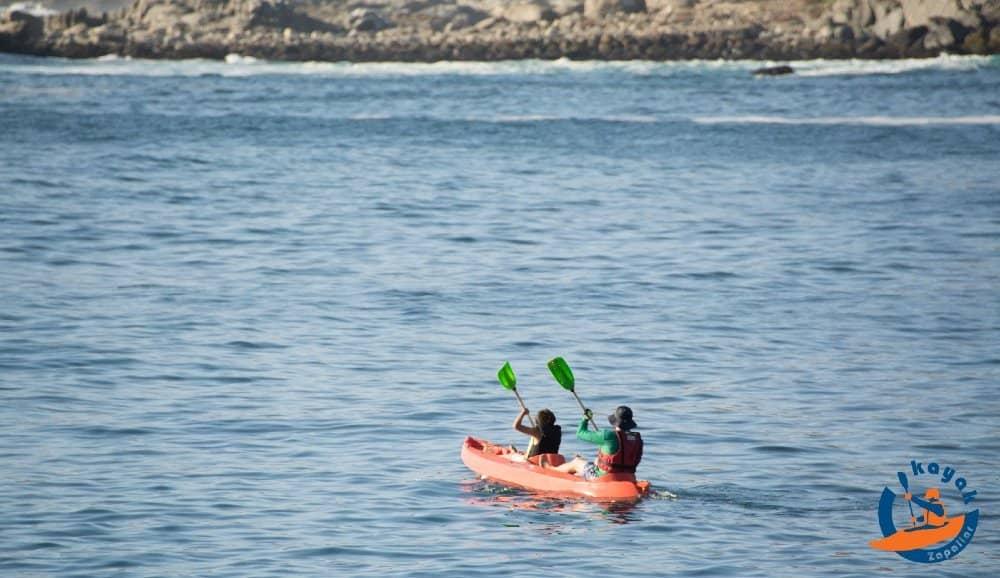 kayak doble en la bahia de zapallar kayak zapallar