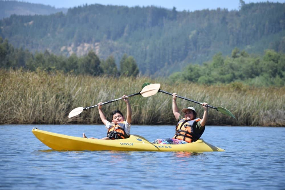 kayak en rio chovellen rutas pudu