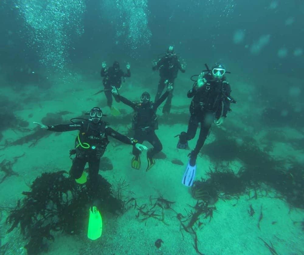 Bautismo submarino o Iniciacion de buceo Quintay oceano