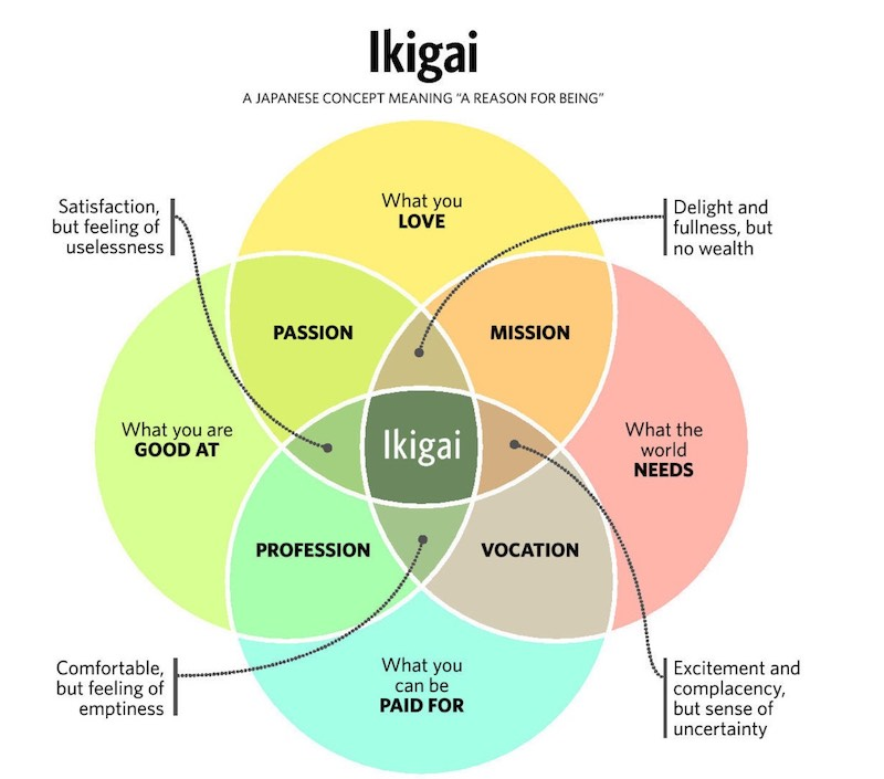 Graph of Ikigai concept