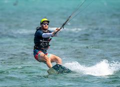 Rob Matzkin kitesurfing on his free time