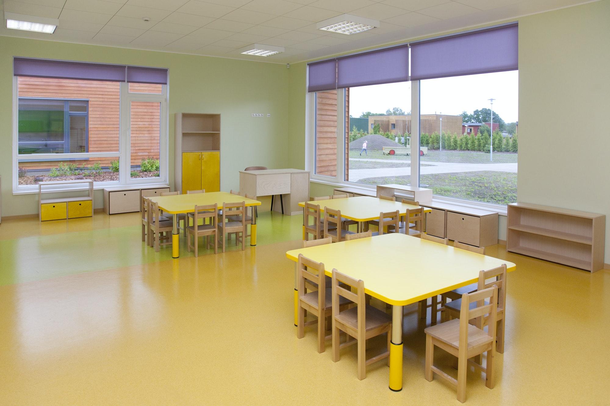 Yellow School Classroom