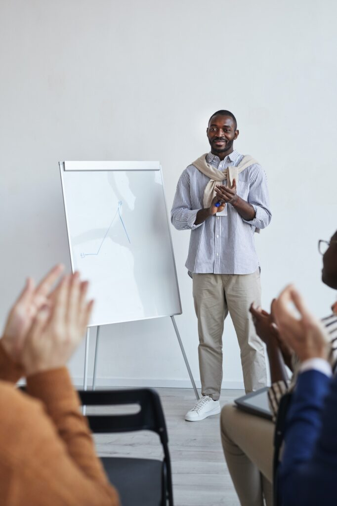 African-American Speaker at Presentation