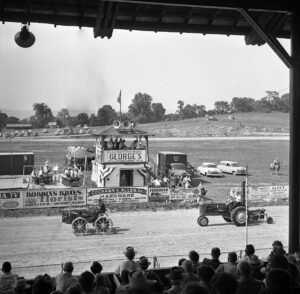 Carlisle Fairgrounds view from the grandstand circa 1953. Image courtesy of the Cumberland County Historical Society.
