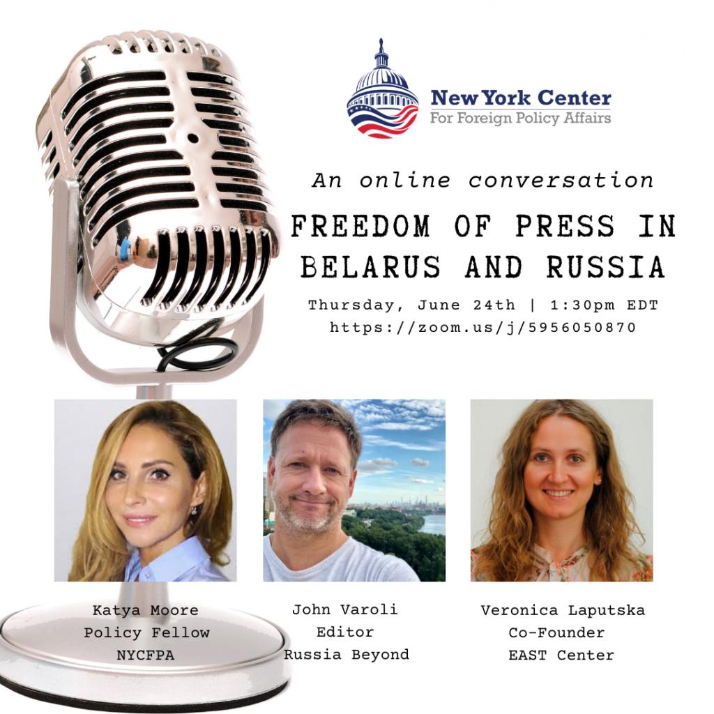 Webinar Recap: Freedom of Press in Belarus and Russia