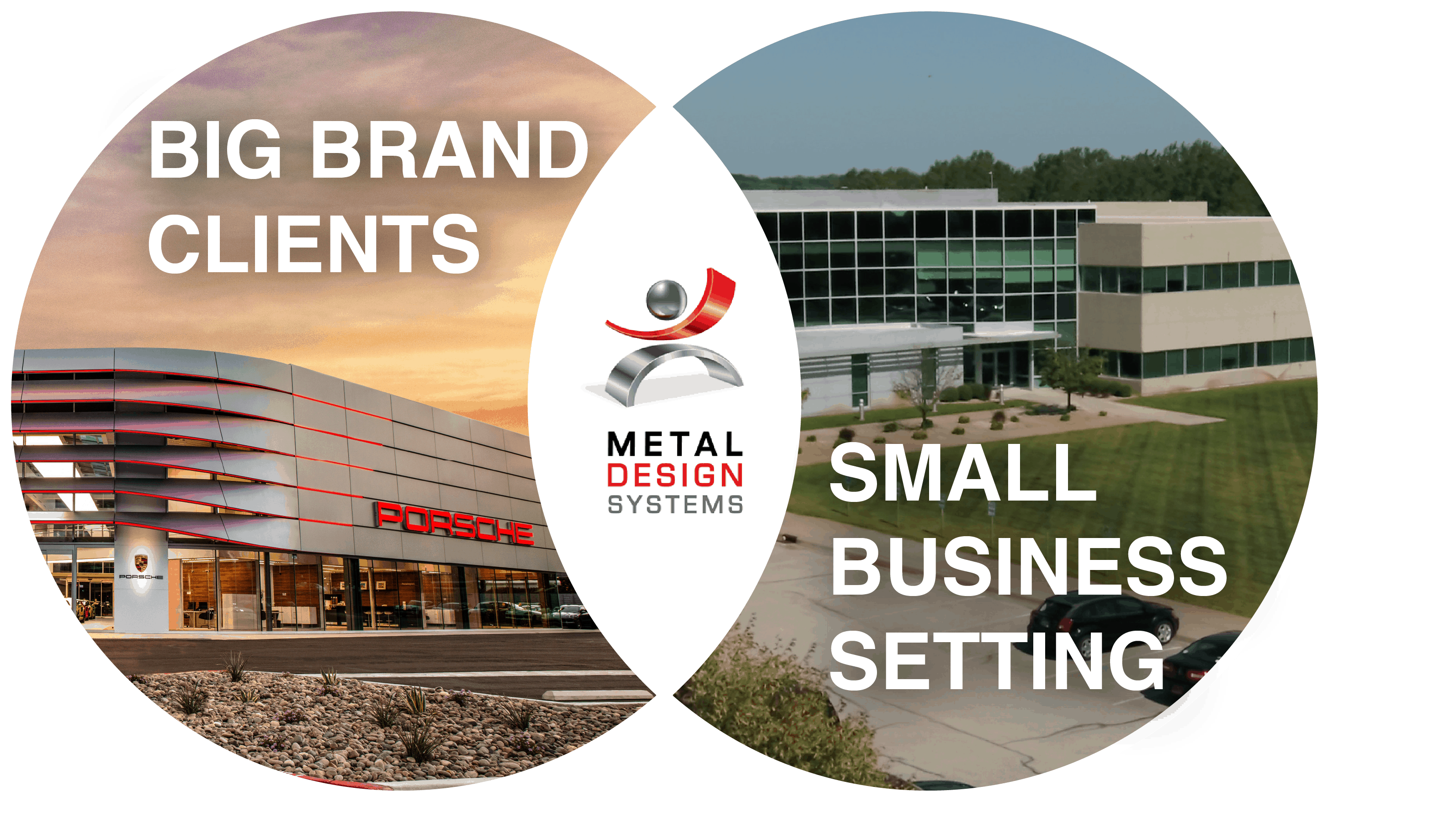 Metal Design Systems provides the opportunity to work for big brand clients in a small business setting.