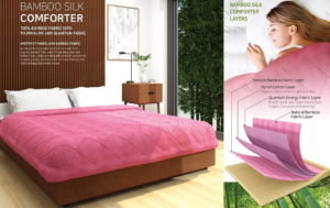 Bamboo Silk Comforter with Tourmaline and Quantum Fabric