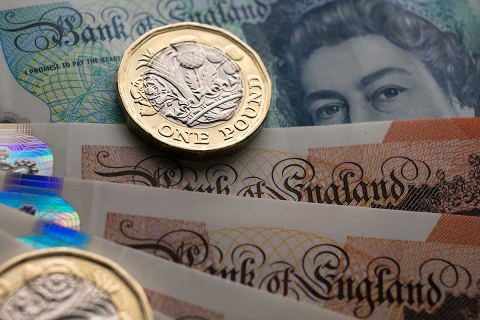 Pound to Euro exchange rates held back by economic data.