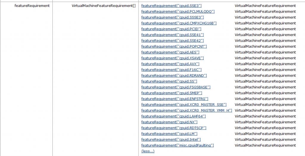 CPUIDs at ivy-bridge EVC mode