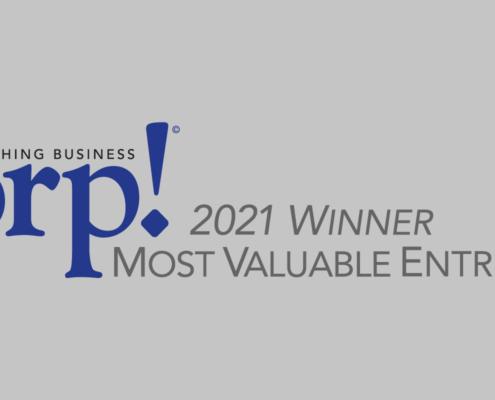 Corp! Magazine - Most Valuable Entrepreneur - 2021 MVP Award Winner