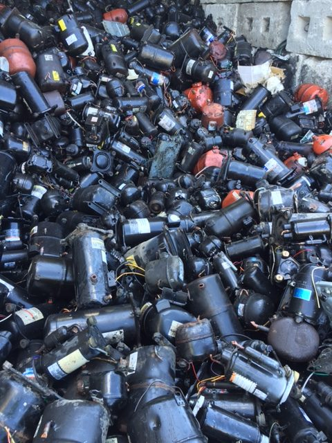 pile of scrap sealed units