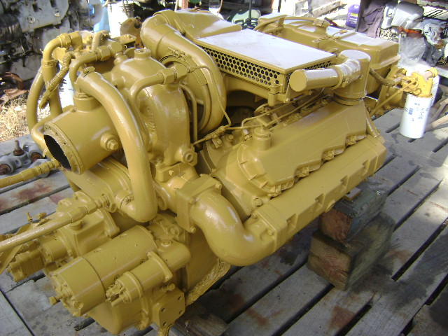 Pair of Caterpillar 3208's with Twin Disc Transmissions for Sale