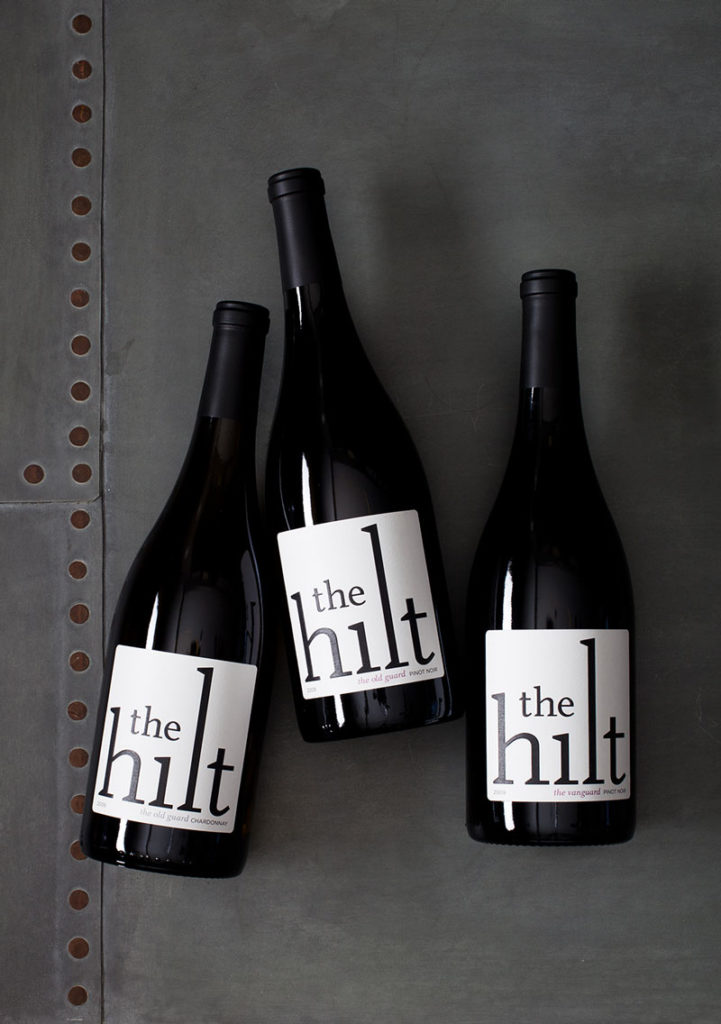 Bottles of The Hilt wine