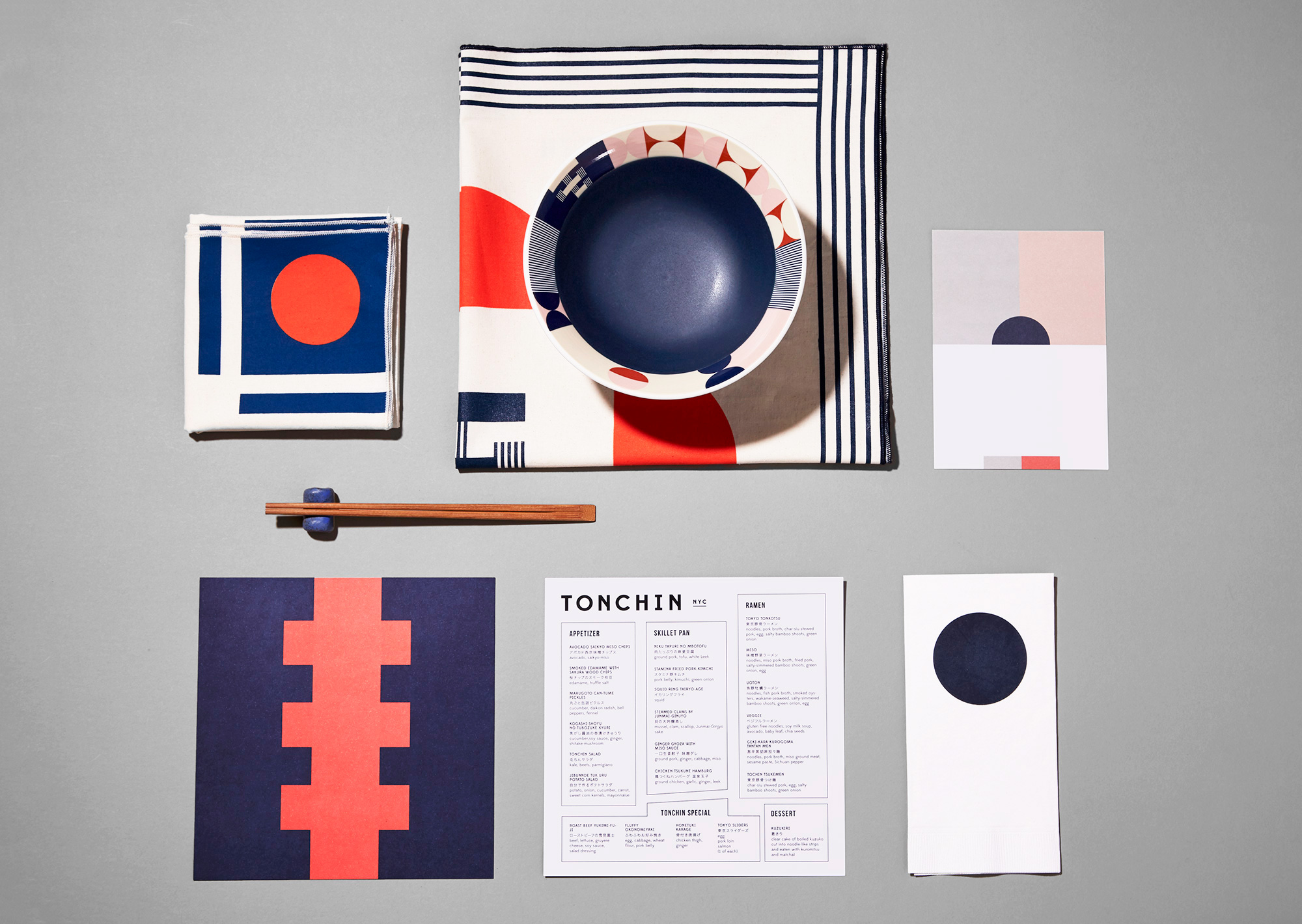 Tonchin tabletop collateral