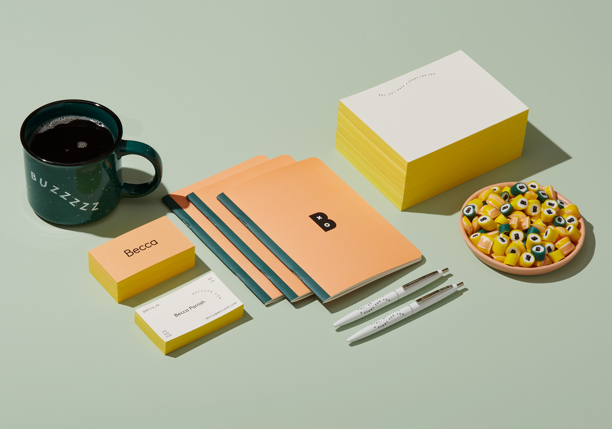 Becca PR Collateral system
