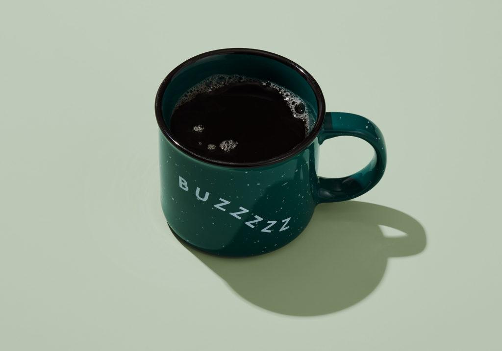 Becca mug with coffee