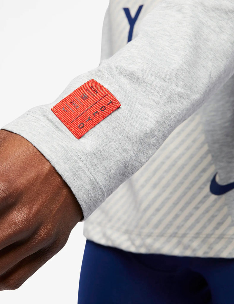 close up of 2019 Tokyo Marathon for Nike by LMNOP apparel