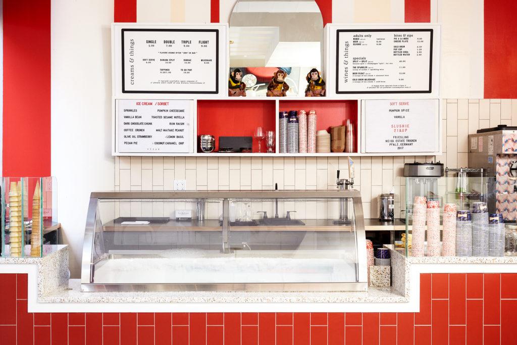 The ice cream counter at OddFellows