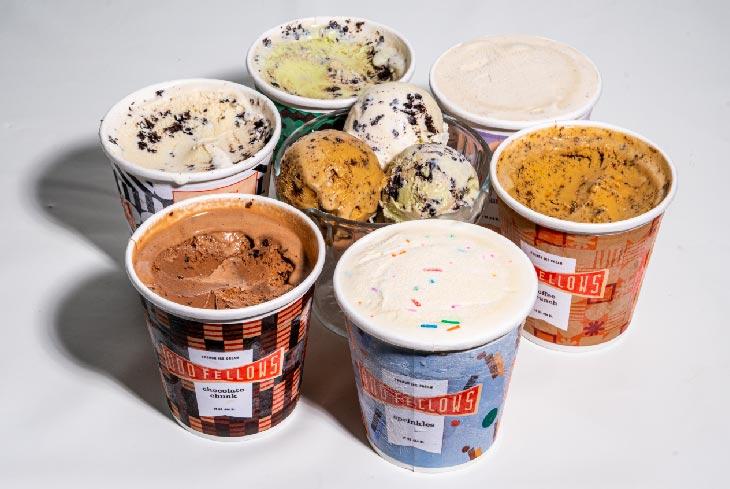 pints of OddFellows ice cream