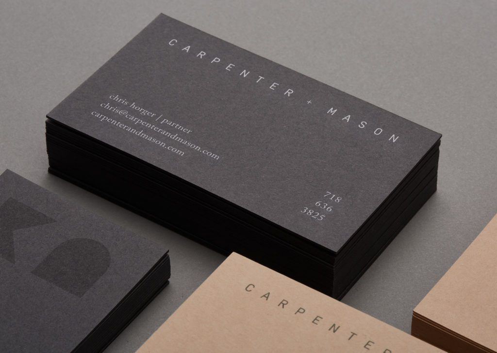 Carpenter and Mason business cards