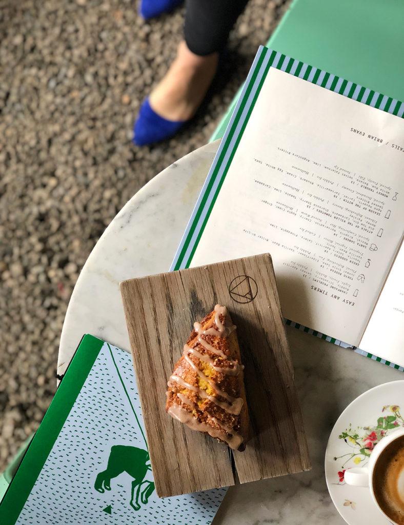 a scone and Sunday in Brooklyn menus