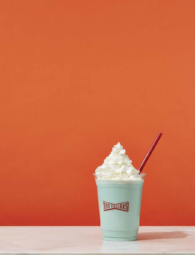 A minty milkshake