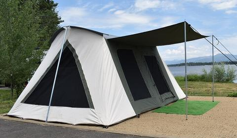 Canvas-Camping-Tent-Deluxe-Prime-Water-Resistent-Bell-Tent
