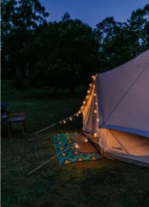 Canvas Tent With Series Lights