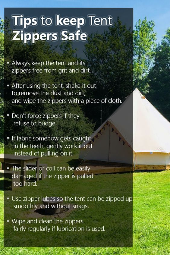 Tips to keep Tent Zippers Safe
