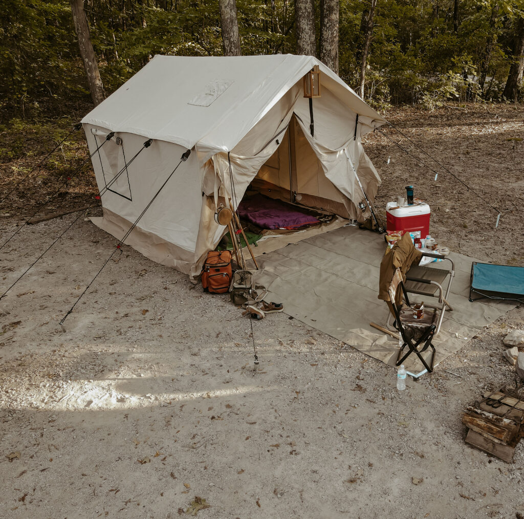 wall tent glamping