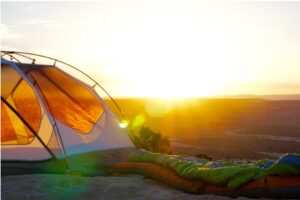 Evening With Canvas Wall Tent