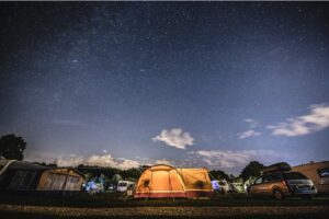 Camping With Car and Wall Tents