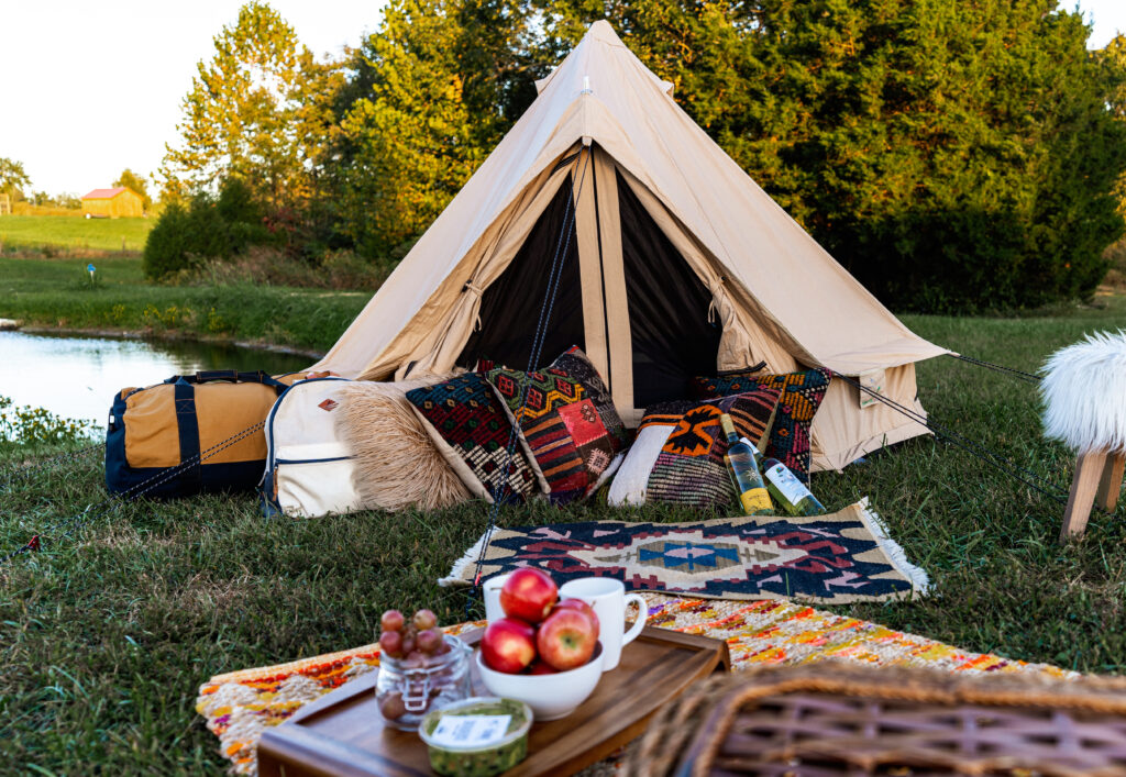 canvas tent bell tent outdoors camping glamping