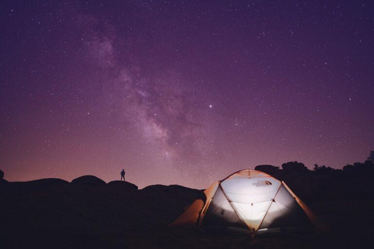 tent, camping, hills