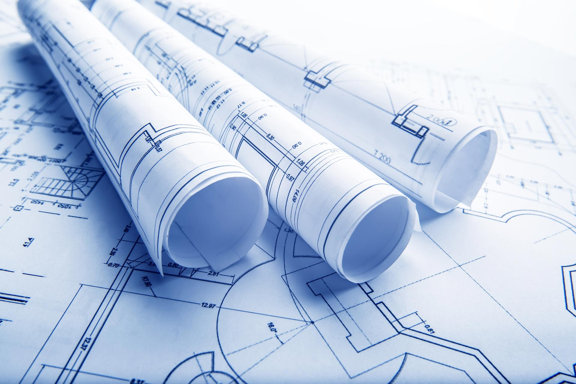 blueprint for architectural project