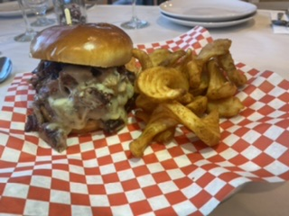Cheesy BBQ Brisket Burger