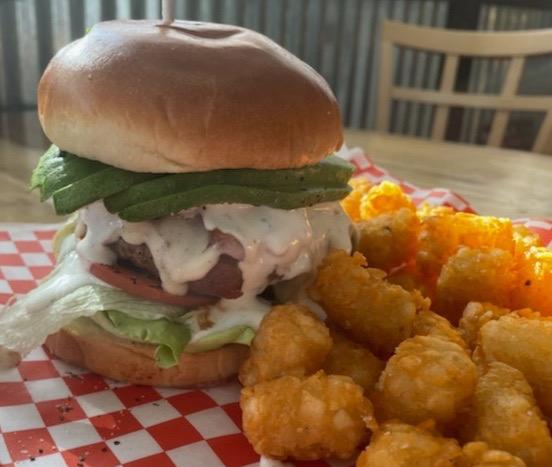 Avocado Bacon Ranch Burger
