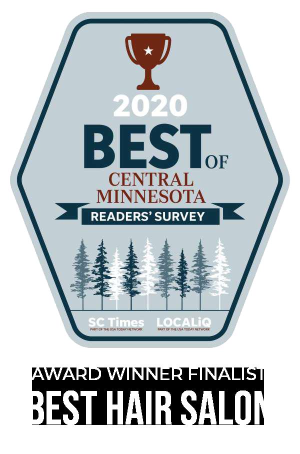 2020 Best of Central Minnesota, Award Winner Finalist for Best Hair Salon