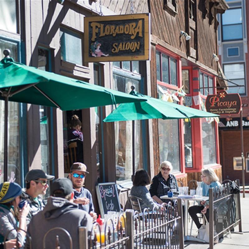 Floradora Saloon SIdewalk Seating with Diners