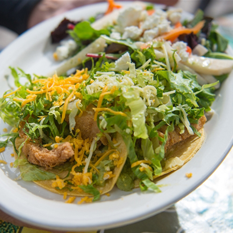 La Cocina de Luz Plate of Tacos